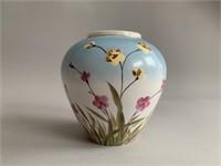 "Hand Painted Flower Vase 4"""