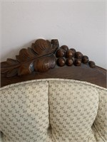 Antique Parlor Sofa with Carved Detail