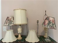 Grouping of Table Lamps