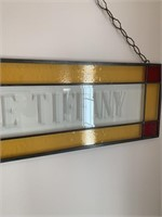 Stand Glass Etched DALE TIFFANY