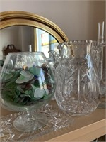 Large Lot of Crystal-Glass-and Mixed China with Bo