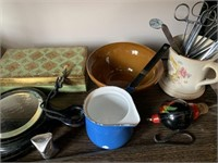 Large Lot of Primitives-Fishing Reel and Collectab