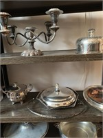 Large Lot of Silver Plate and Servingware