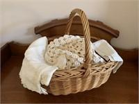 Wicker Basket of Fine Dollis