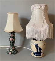 Two Old Table Lamps
