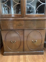 Fine China Cabinet with Deco Styling