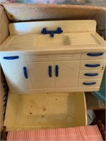 Lot of Old Doll House Furniture