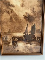 Pair of Antique Pastel/Watercolours