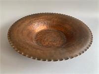 "Hand Wrought Century Artcraft Copper Bowl 14"""