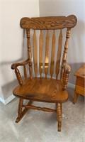 Large Oak Rocking Chair