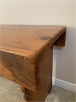 Antique Reclaimed Pine Bench