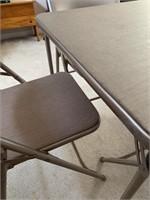 Samsonite Card Table and Chair Set