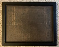 Map of The Kingdom of Scotland-Framed