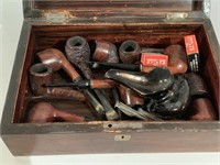 Very Ornate Inlayed Box with Many Pipes
