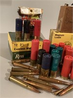 Lot of Many Shotgun Shells and Rifle Cartridges