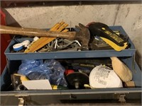Old Woodworking Bench and Tool Boxes with Contents