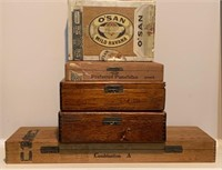 Great Lot of Early Cigar Boxes as Shown