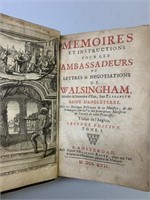 Circa 1717 Memoires & Letters of Walsingham Book