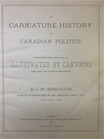 1886 Caricature History of Canadian Politics Book-