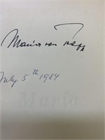 Signed Maria by Maria Von Trapp with Additions