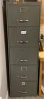 Legal Size Metal 5 Drawer Filing Cabinet