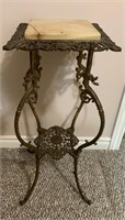 Small Antique Gilt Marble Top Table