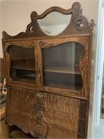 Early Oak Drop Down Secretary Bookcase