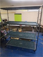 Stainless steel plant cart