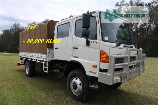 2012 Hino 500 Series 1322 GT 4x4 Crew Midcoast Trucks - Trucks for Sale