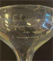 Etched Champagne Glass From John to Elaine