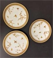 Staffordshire Porcelain Dessert Plates
