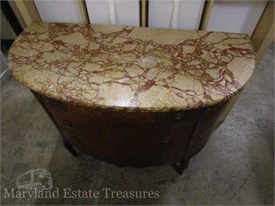 ART DECO STYLE MARBLE TOP CHEST OF DRAWERS Otros Articulos