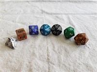 Randomly Selected Set 7 Fantasy Role-Playing Dice