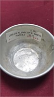 3 Antique Kitchen Items Child's Cup and Pan With