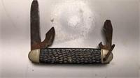 "Vintage Scout Knife 3 Blades 4"" Long"