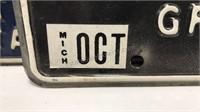 3 Vintage Michigan Auto Plates 1973 2pcs 1979 1pc
