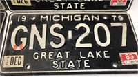 4 Vintage Michigan 1979 Auto Plates