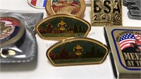 Boy Scout Items Pewter Cup Pins Key Chain and