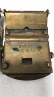 Vintage Brass Belt Buckles for Web Belts