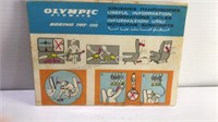 Vintage Olympic Airlines Boeing 707-320 Laminated