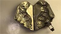 Antique Merick Stamped Metal Rabbit Butter /