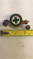 Collection of small American Legion Shriner Mason