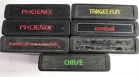 Collection of 8 Vintage Atari 2600 Game