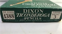 6 Dozen Dixon Ticonderoga #3 Pencils in original