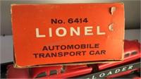 Vintage Lionel Train Car 6414 Auto Loader with 4
