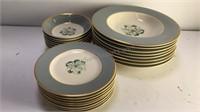 """Syracuse China Avalon 8pcs 6"""" Plates 8pcs 9"""""""