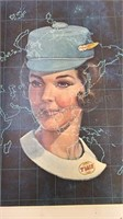 """1967-68 TWA Hostess Training Yearbook 11x8"""""""