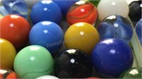 Collection of Vintage Glass Marbles Mix of Solid