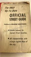 1940 Official Detroit Street Guide Hearne