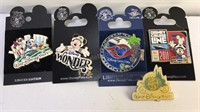 Disney Enameled Pin Collection 5pcs